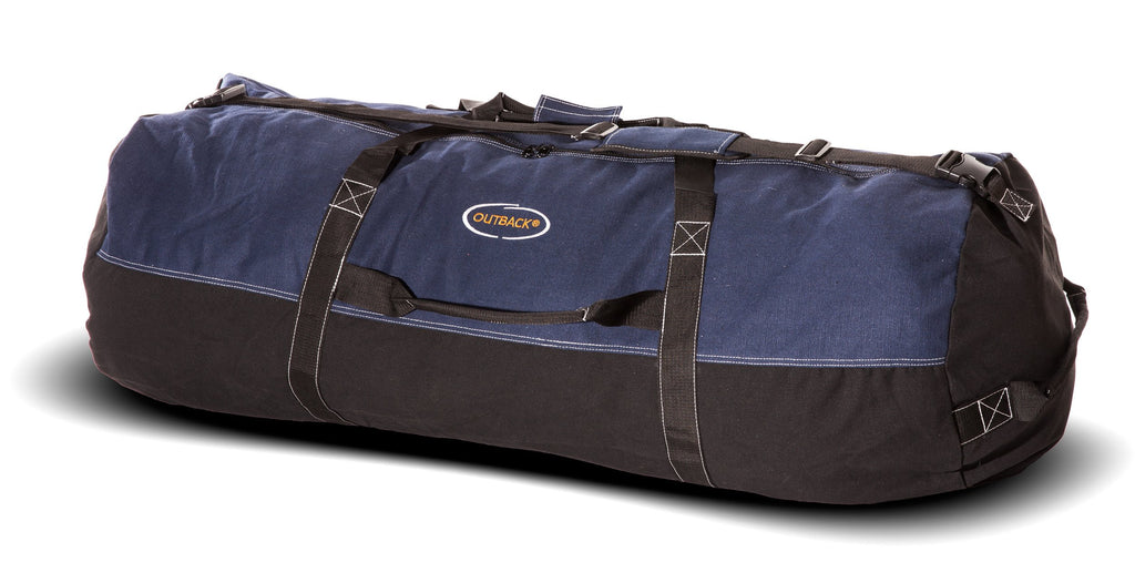 "Ledmark Heavyweight Cotton Canvas Outback Duffle Bag, Giant 48"" x 20"", Blue - backpacks4less.com"