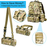 CVLIFE Military Tactical Backpack Survival Army Rucksack Assault Pack Molle Bag - backpacks4less.com