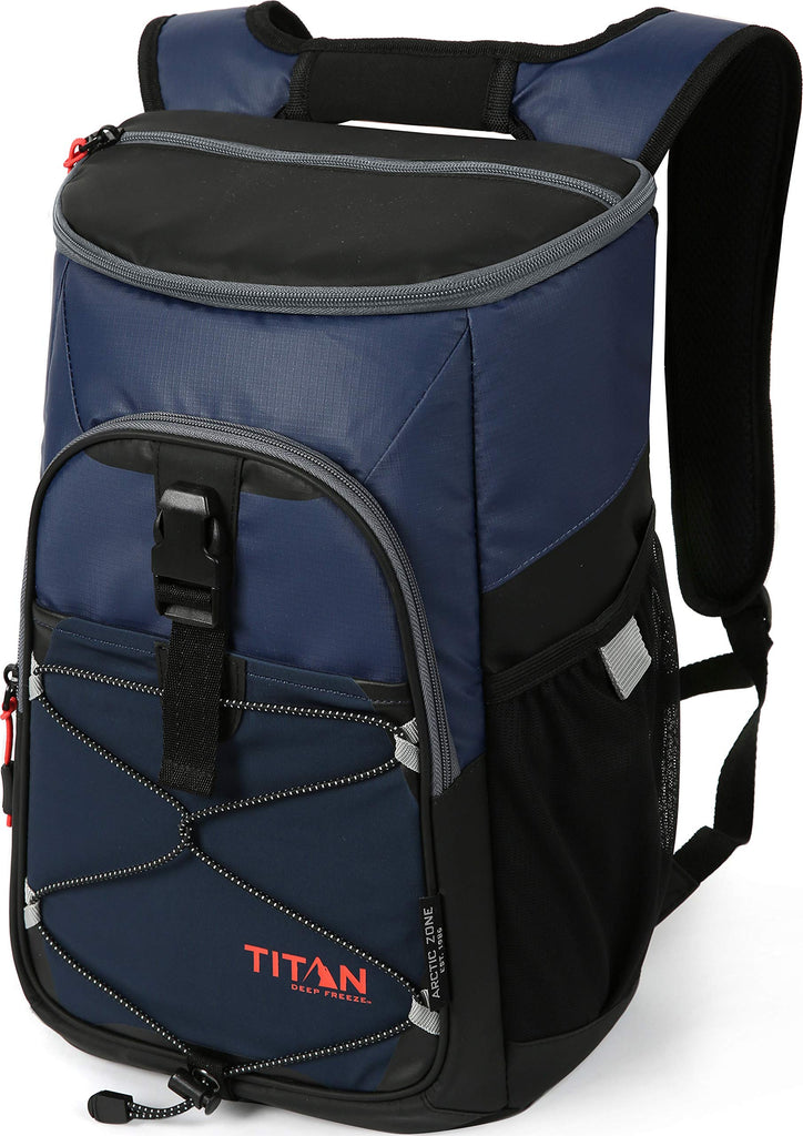 Arctic Zone Titan Deep Freeze 24 Can Backpack Cooler, Blue - backpacks4less.com