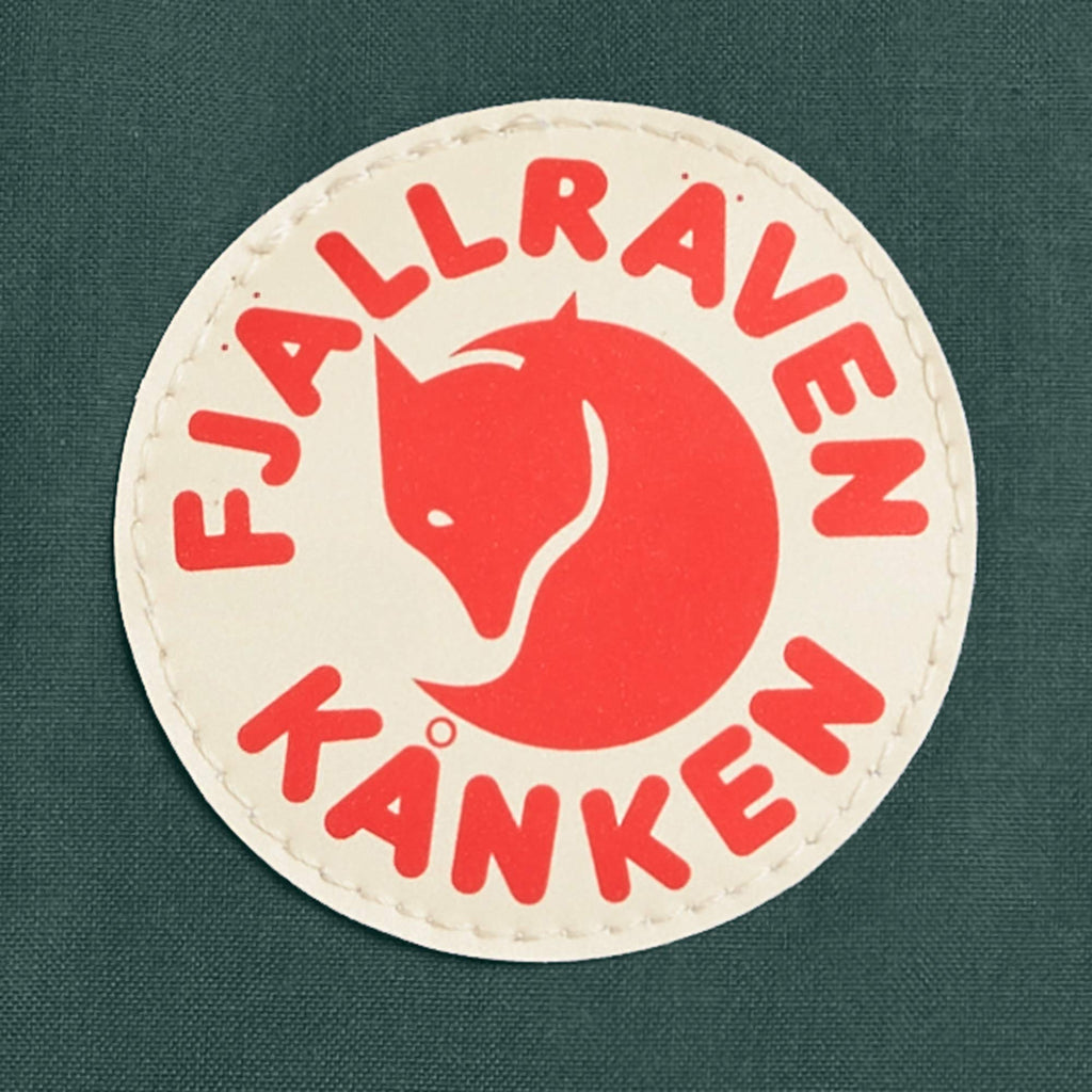 Fjallraven - Kanken Mini Classic Backpack for Everyday, Forest Green/Ox Red - backpacks4less.com