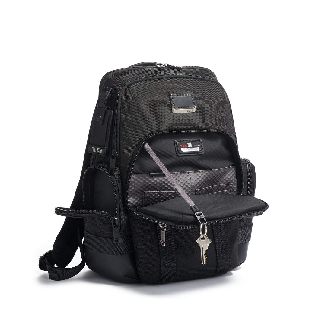 TUMI - Alpha Bravo Nathan Laptop Backpack - 15 Inch Computer Bag for Men and Women - Black - backpacks4less.com