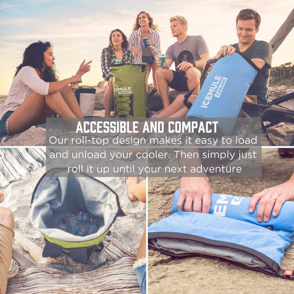 IceMule Classic Insulated Backpack Cooler Bag - Hands-Free, Collapsible, and Waterproof, This Portable Cooler is an Ideal Sling Backpack for Hiking, The Beach, Picnics and Camping-Small, Sunshine - backpacks4less.com