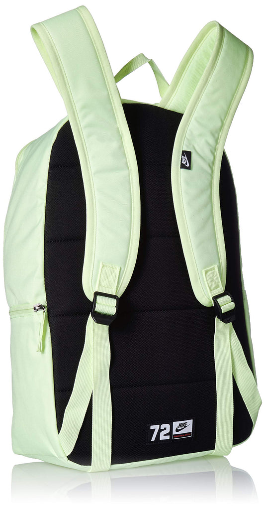 NIKE Heritage Backpack 2.0, Barely Volt/Barely Volt/Black, Misc - backpacks4less.com