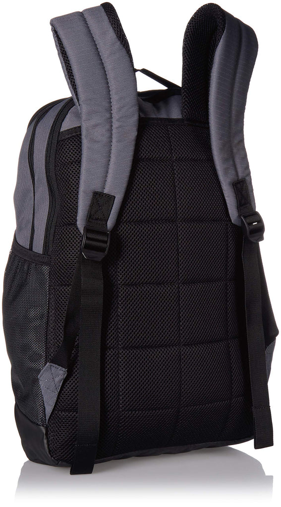 Nike Brasilia Medium Training Backpack, Nike Backpack for Women and Men with Secure Storage & Water Resistant Coating, Flint Grey/Black/White - backpacks4less.com