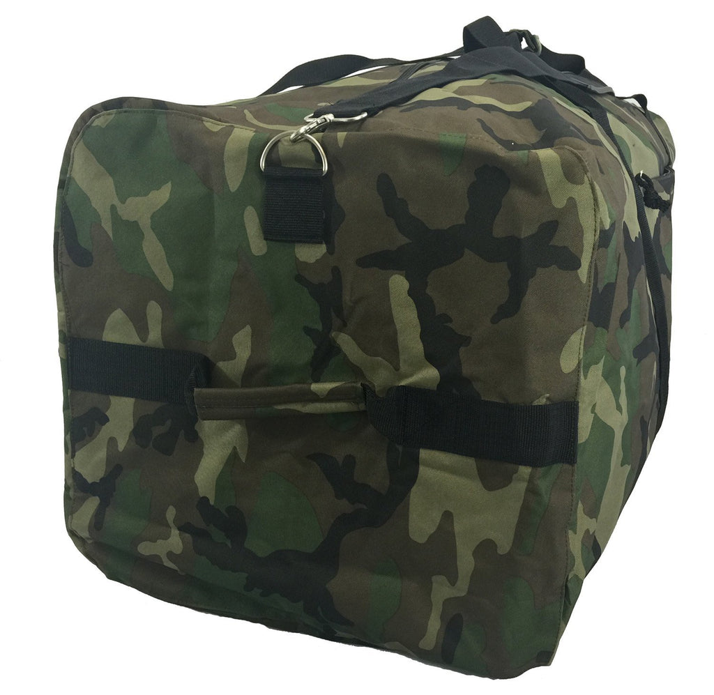 "Heavy Duty Cargo Duffel Large Sport Gear Drum Set Equipment Hardware Travel Bag Rooftop Rack Bag (42"" x 20"" x 20"", Camouflage) - backpacks4less.com"
