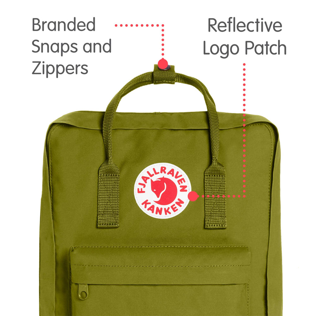 Fjallraven - Kanken Classic Backpack for Everyday, Guacamole - backpacks4less.com