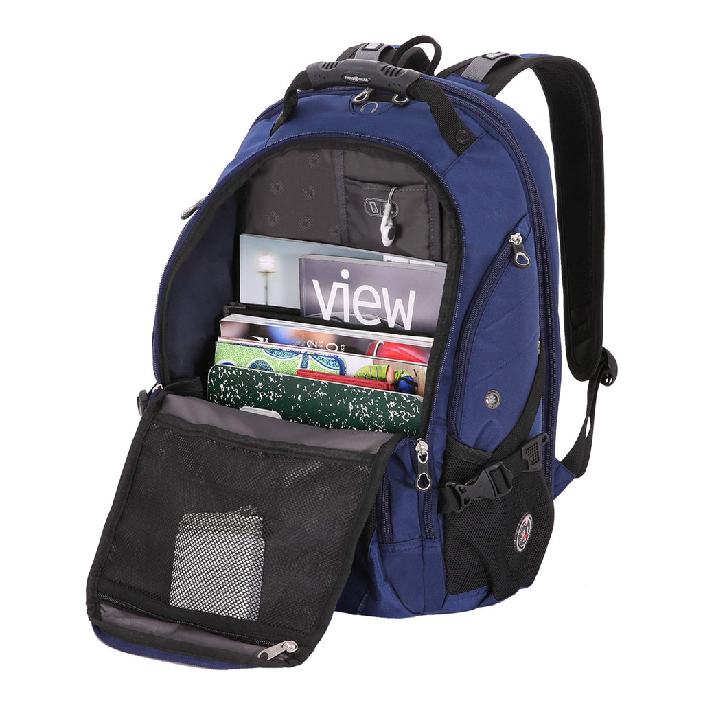 SwissGear SA1923 Rich Navy TSA Friendly ScanSmart Laptop Backpack - Fits Most 15 Inch Laptops and Tablets - backpacks4less.com