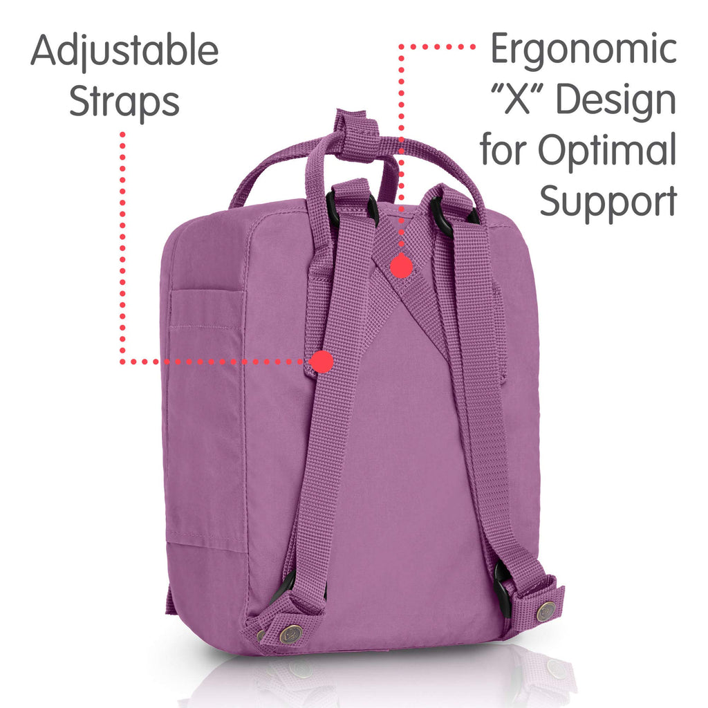 Fjallraven - Kanken Mini Classic Backpack for Everyday, Orchid - backpacks4less.com