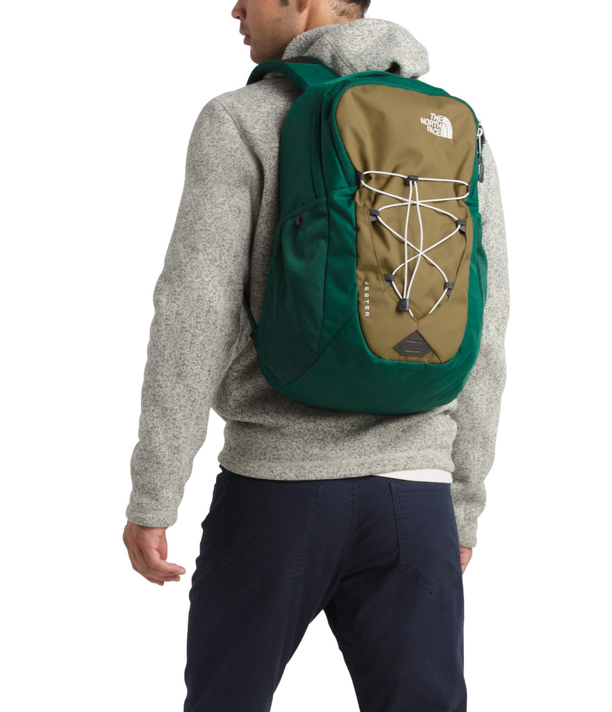 The North Face Jester Backpack, British Khaki/Night Green - backpacks4less.com