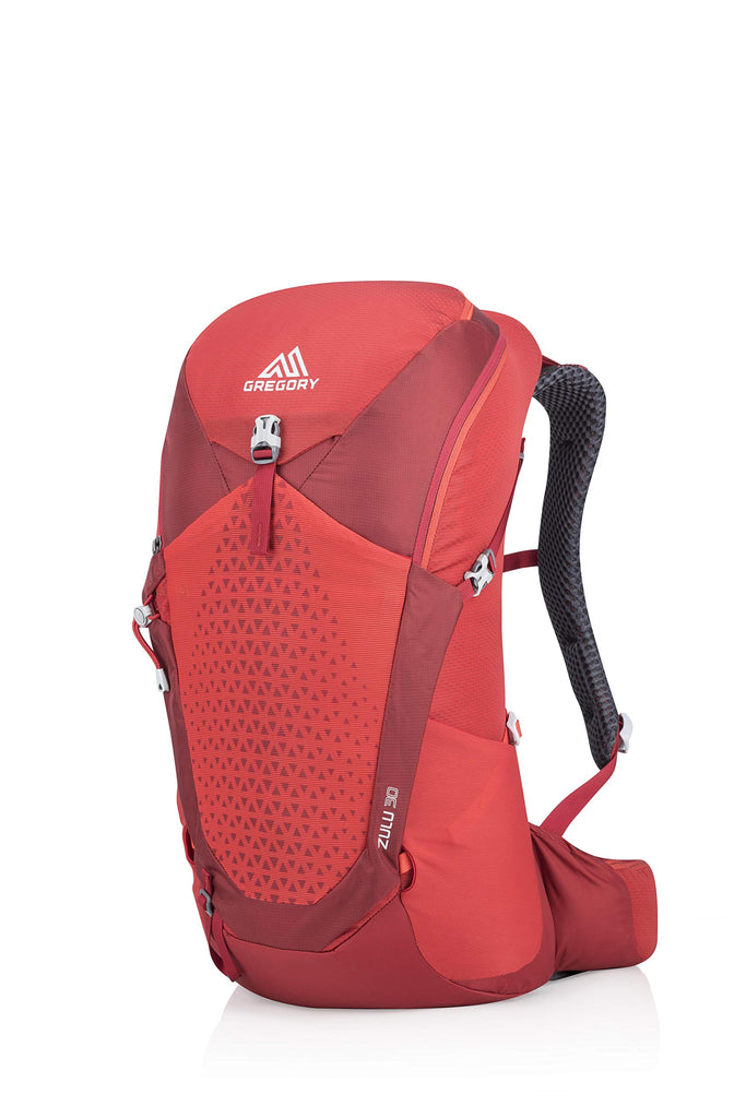 Gregory Mountain Products Zulu 30 Liter Men's Hiking Daypack, Fiery Red, Small/Medium - backpacks4less.com