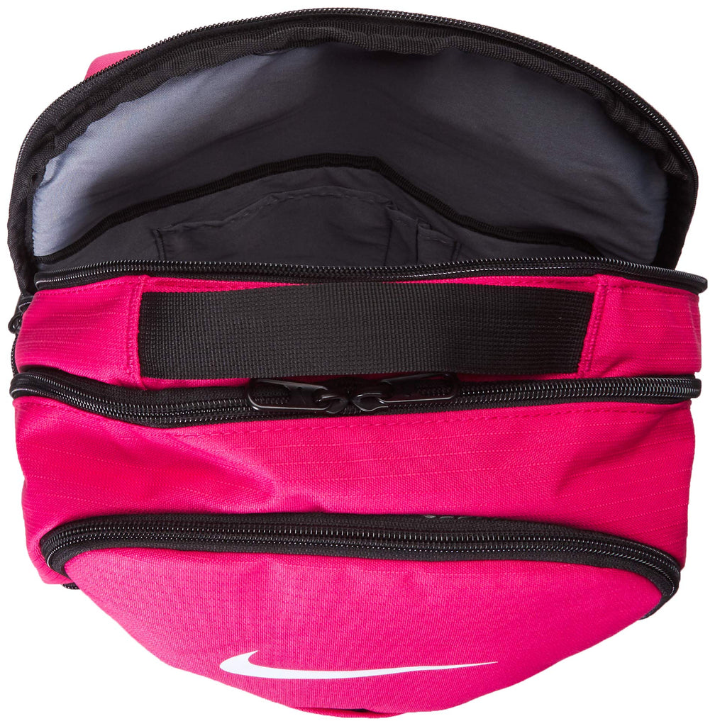 Nike Brasilia Medium Training Backpack, Nike Backpack for Women and Men with Secure Storage & Water Resistant Coating, Rush Pink/Black/White - backpacks4less.com