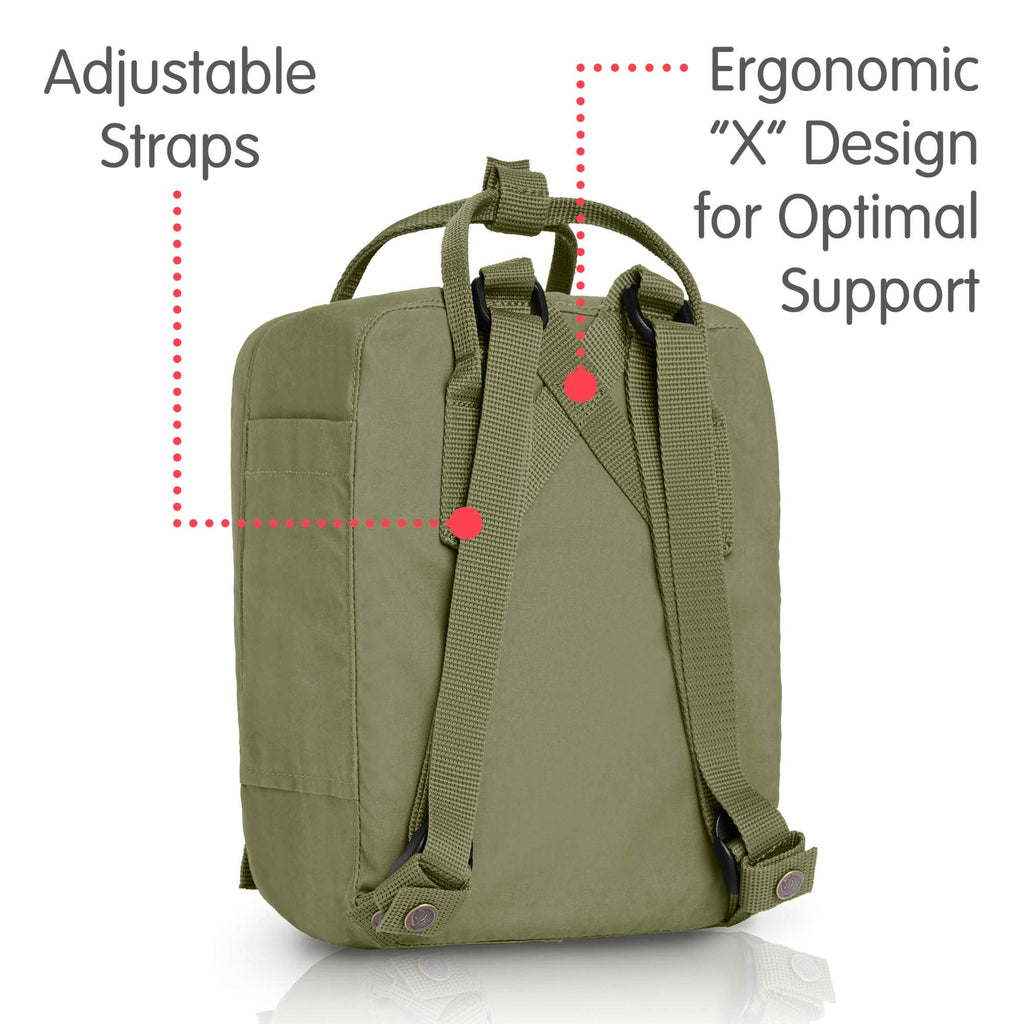 Fjallraven - Kanken Mini Classic Backpack for Everyday, Green - backpacks4less.com
