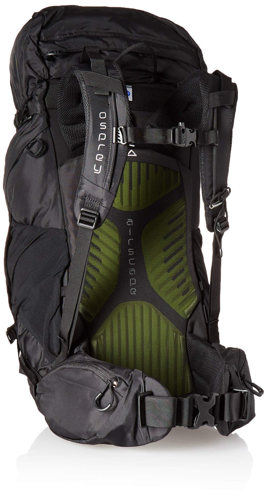 Osprey Packs Kestrel 38 Backpack, Black, Medium/Large - backpacks4less.com