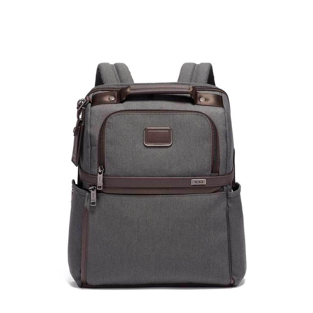 TUMI - Alpha 3 Slim Solutions Laptop Brief Pack - 15 Inch Computer Backpack for Men and Women - Anthracite - backpacks4less.com