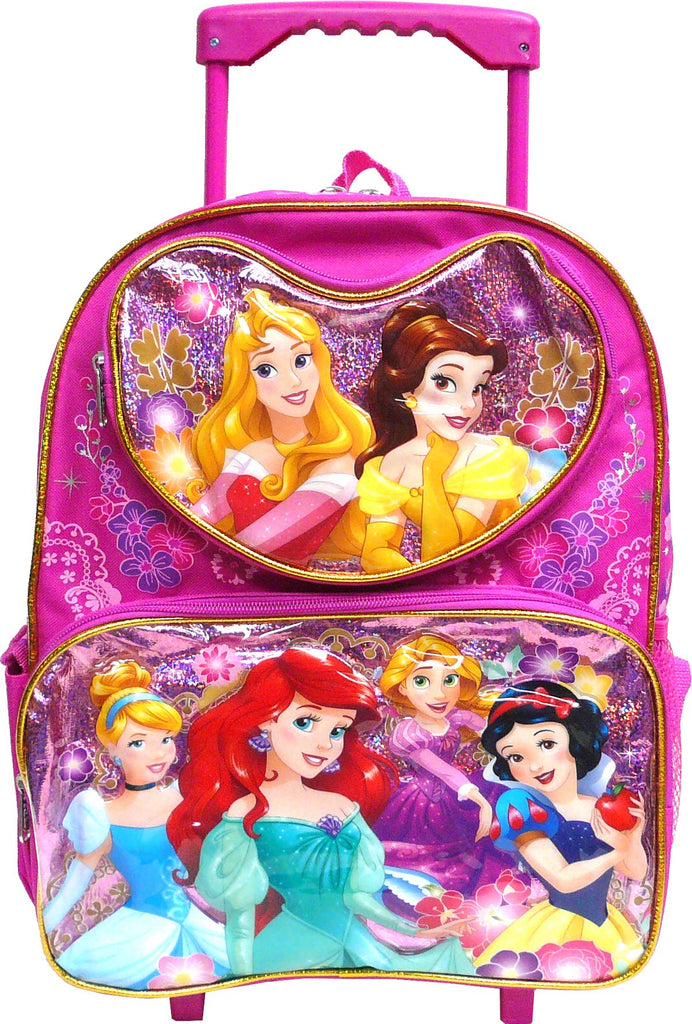 "Disney Princess 12"" Rolling Backpack (Featuring the 6 Princesses), Sunglasses - - backpacks4less.com"