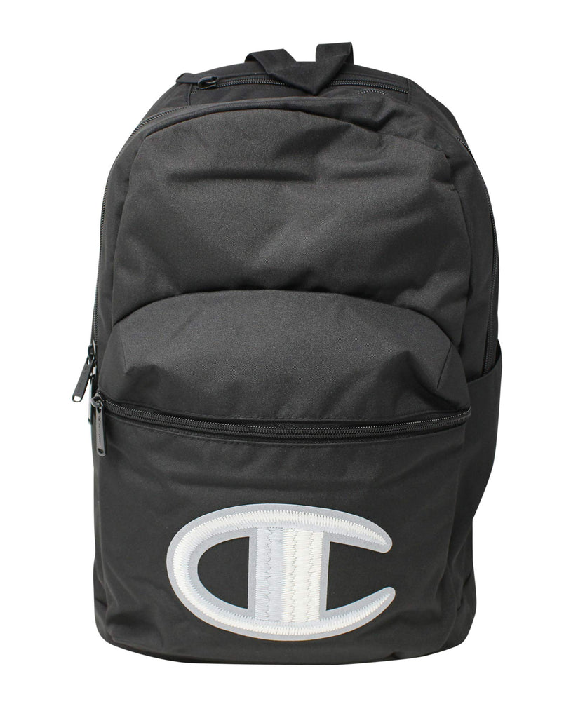 "Champion Supersize Big ""C"" Chainstitch Backpack Black One Size - backpacks4less.com"