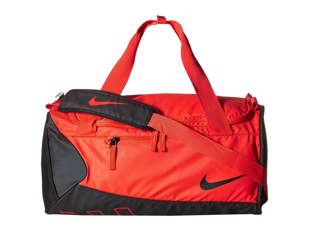 Nike Young Athletes Alpha ADPT Crossbody Duffel Max Orange/Black/Black Duffel Bags - backpacks4less.com