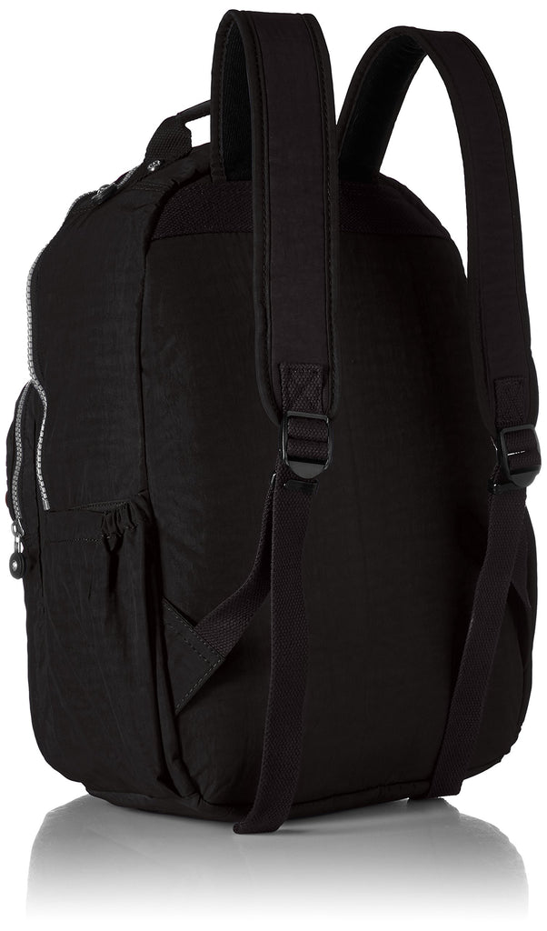 Kipling womens Seoul Go Black Laptop Backpack, black, One Size - backpacks4less.com