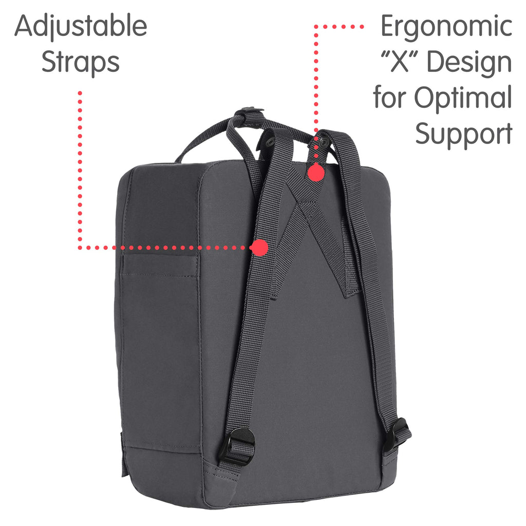 Fjallraven - Kanken Classic Backpack for Everyday, Super Grey - backpacks4less.com