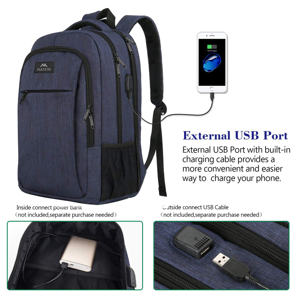 Large College Backpack,Durable Computer Backpack with USB Charging Port Fit 17 inch Notebook,Lightweight Carryon TSA Shoulder Backpack with Luggage Sleeve for Business Trip for Men and Women - backpacks4less.com