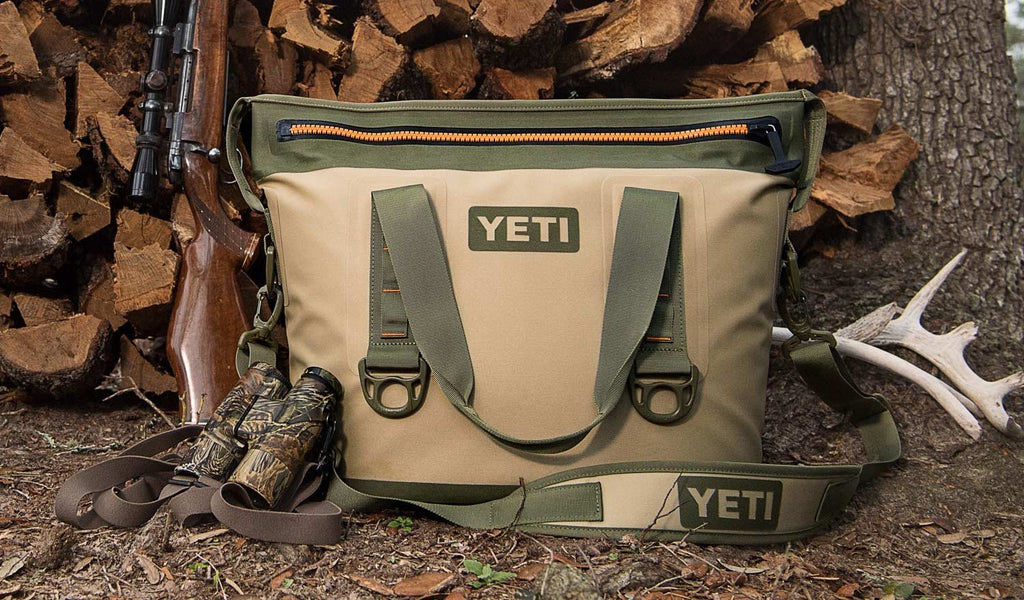 YETI Hopper Two 20 Portable Cooler, Field Tan / Blaze Orange - backpacks4less.com