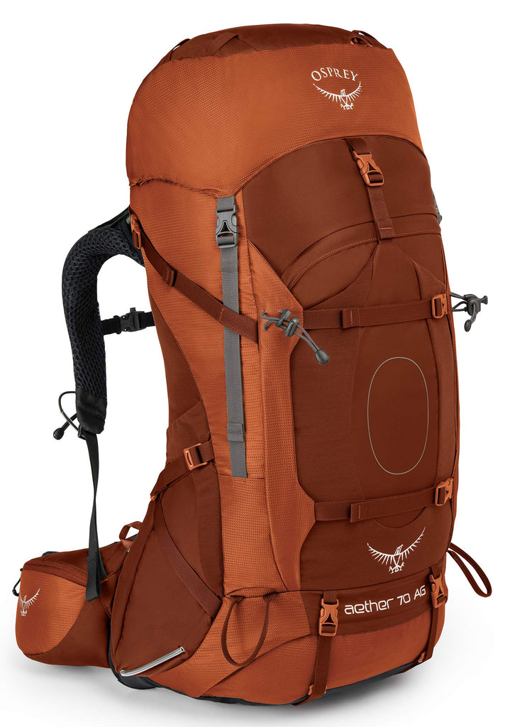 Osprey Packs Aether Ag 70 Backpacking Pack, Outback Orange, Small - backpacks4less.com