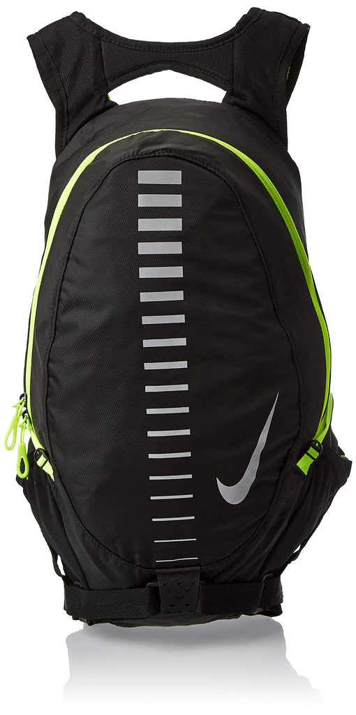 Nike Course Running Backpack for Men and Women in Black and Volt Green - backpacks4less.com