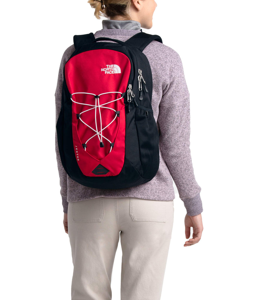 The North Face Jester Backpack, TNF Red/TNF Black - backpacks4less.com