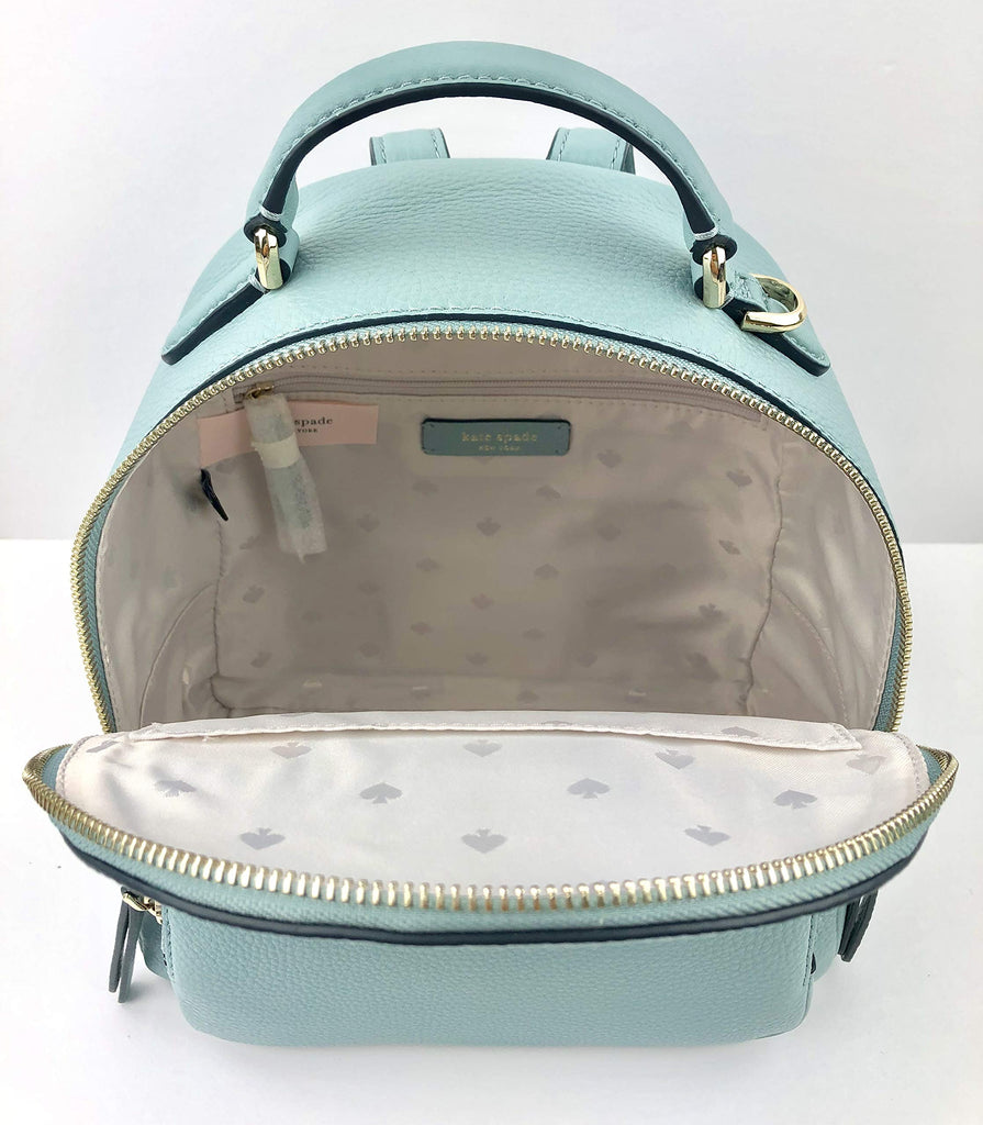 Kate Spade Backpack Jackson Medium Backpack Soft Pebbled Leather Seaside - backpacks4less.com