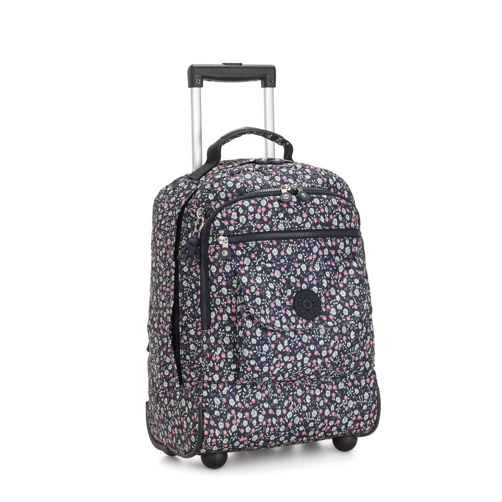 Kipling Sanaa Large Rolling Backpack Floral Rush - backpacks4less.com