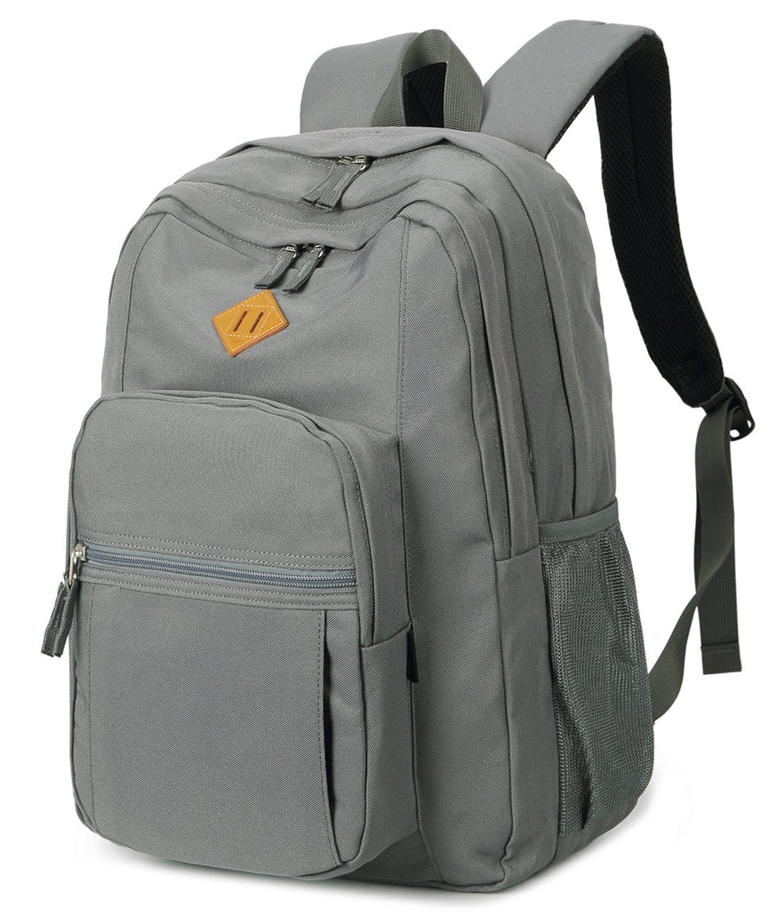 Abshoo Classical Basic Womens Travel Backpack For College Men Water Resistant Bookbag (Grey) - backpacks4less.com