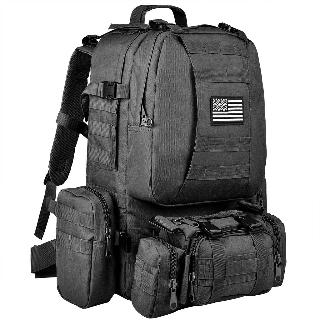 CVLIFE Military Tactical Backpack Army Rucksack Assault Pack Built-up Molle Bag - backpacks4less.com