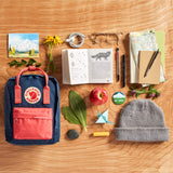 Fjallraven - Kanken Mini Classic Backpack for Everyday, Royal Blue/Ox Red - backpacks4less.com