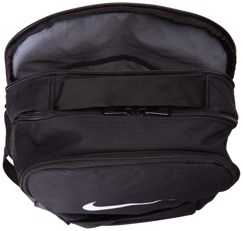 Nike Brasilia Medium Training Backpack, Nike Backpack for Women and Men with Secure Storage & Water Resistant Coating, Black/Black/White - backpacks4less.com
