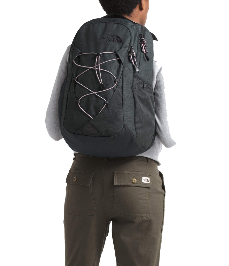The North Face Women's Jester Backpack, Asphalt Grey Light Heather/Ashen Purple, One Size - backpacks4less.com