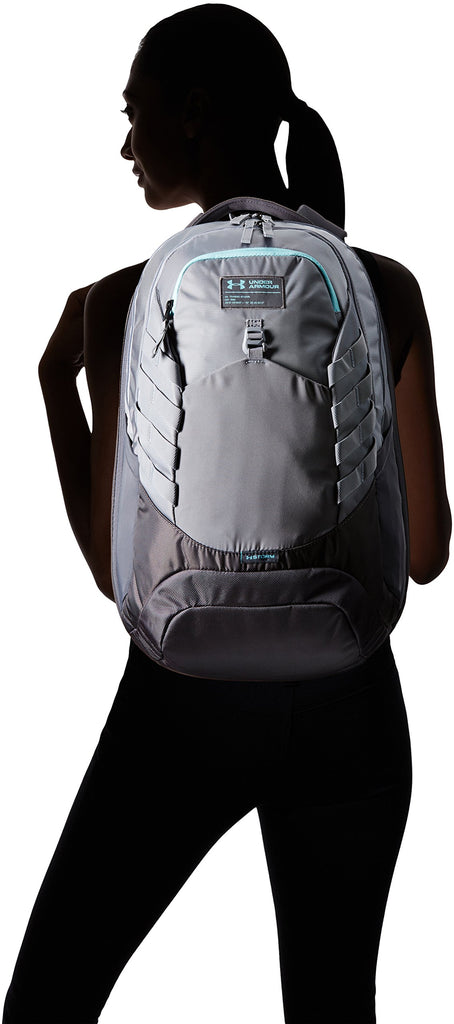 Under Armour Hudson Backpack, Steel (035)/Blue Infinity, One Size Fits All Fits All - backpacks4less.com