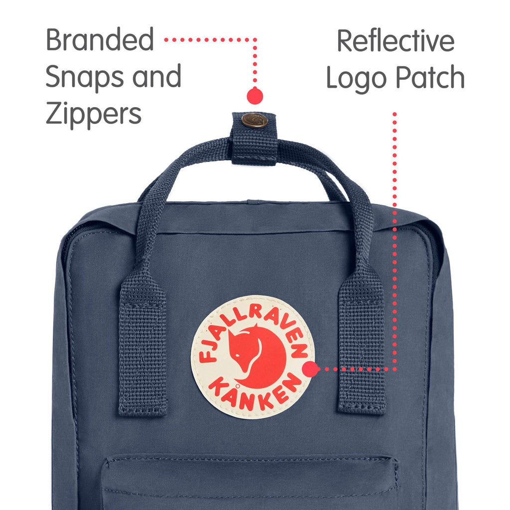 Fjallraven - Kanken Mini Classic Backpack for Everyday, Graphite - backpacks4less.com