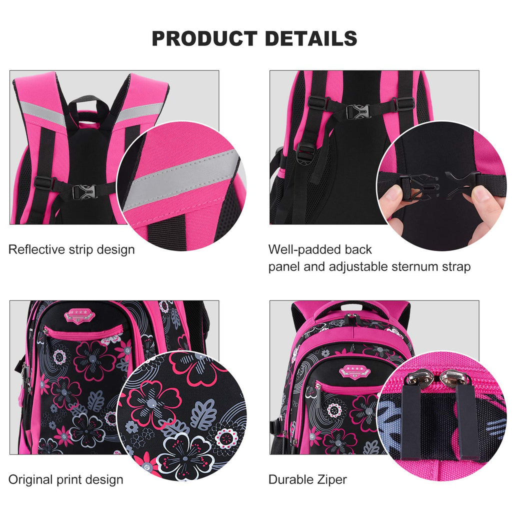 Rolling Backpack for Girls, Fanspack Wheeled Backpack for Girls Backpack with Wheels Rolling Backpack for School - backpacks4less.com