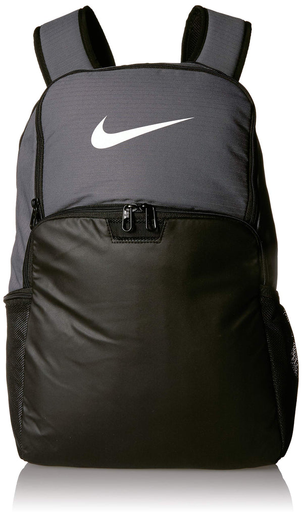 NIKE Brasilia XLarge Backpack 9.0, Flint Grey/Black/White, Misc - backpacks4less.com