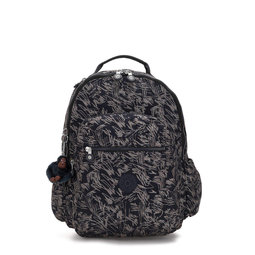 "Kipling Seoul Go Large 15"" Laptop Backpack Vibrant Sketch - backpacks4less.com"
