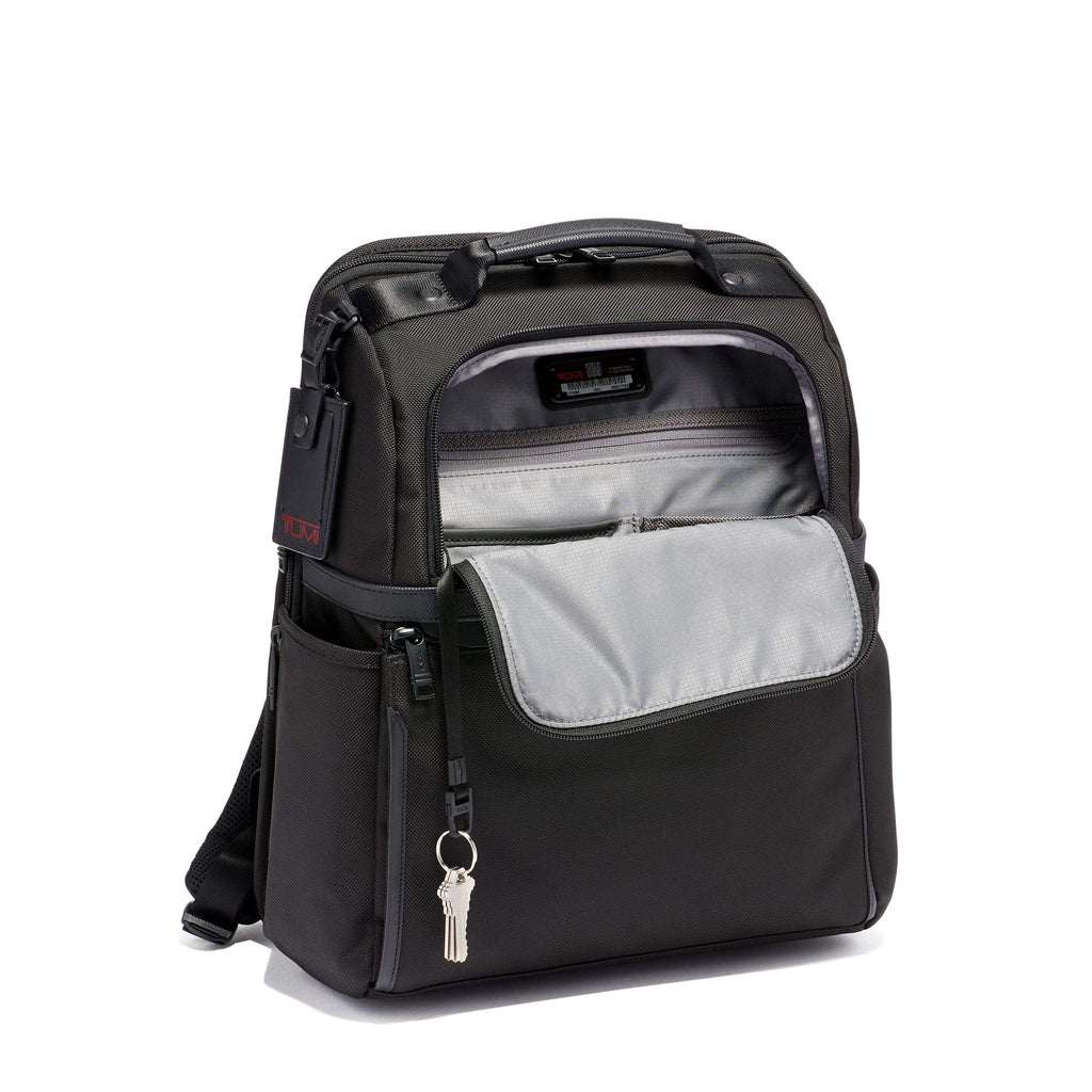 TUMI - Alpha 3 Slim Solutions Laptop Brief Pack - 15 Inch Computer Backpack for Men and Women - Black - backpacks4less.com