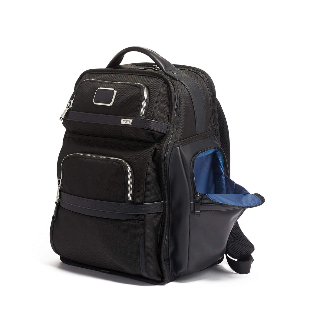 TUMI - Alpha 3 Brief Pack - 15 Inch Computer Backpack for Men and Women - Black Chrome - backpacks4less.com