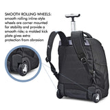 High Sierra Freewheel Wheeled Laptop Backpack, 15-inch Student Laptop Backpack for High School or College, Rolling Gamer Laptop Backpack, Wheeled Business Laptop Backpack - backpacks4less.com