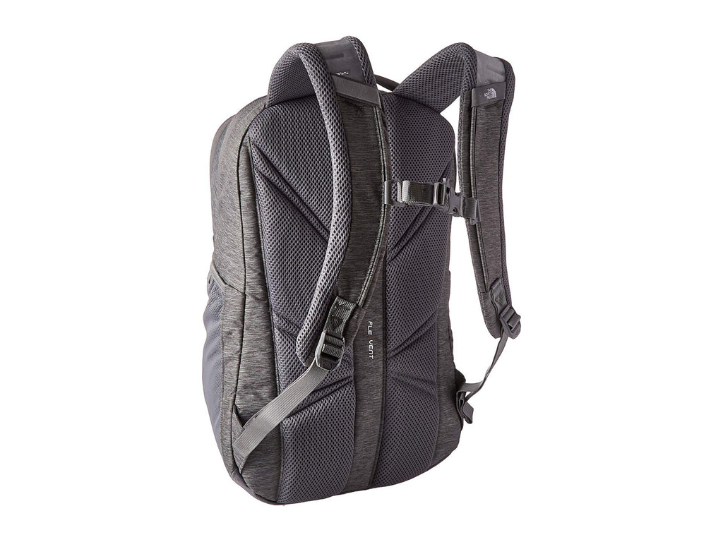 The North Face Jester Backpack, Zinc Grey Light Heather/Flag Blue - backpacks4less.com