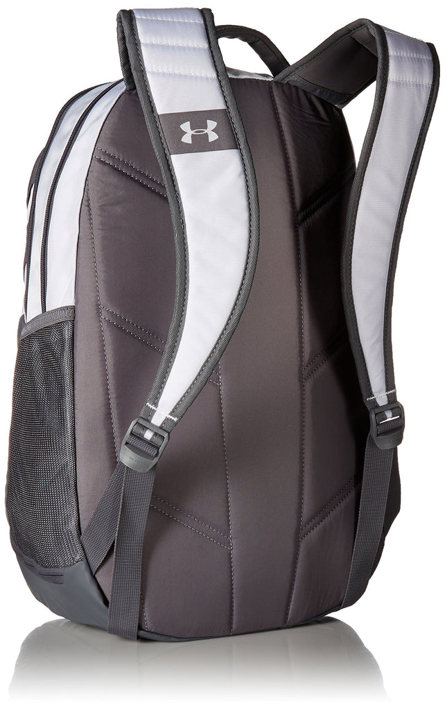 Under Armour Hustle 3.0 Backpack, White (100)/Graphite, One Size Fits All - backpacks4less.com