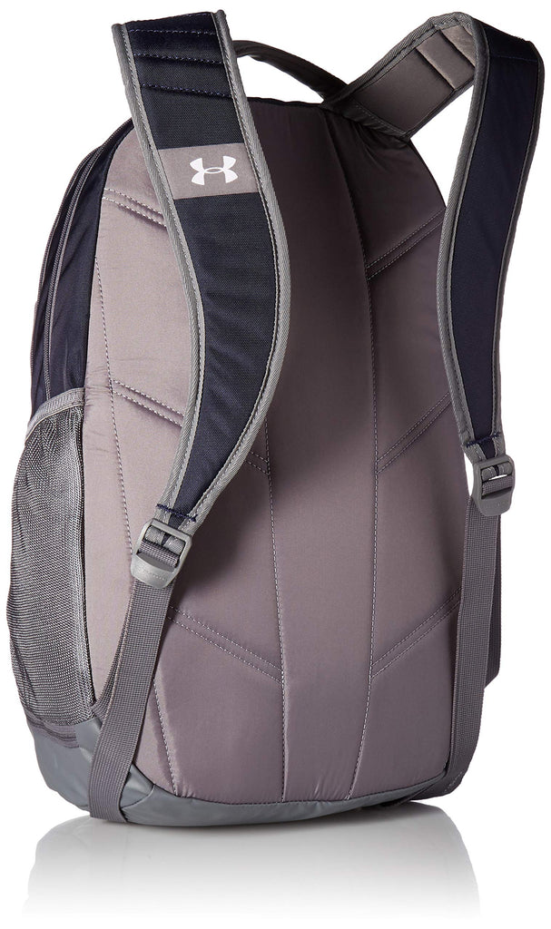 Under Armour Hustle 3.0 Backpack, Midnight Navy (410)/Silver, One Size Fits All - backpacks4less.com