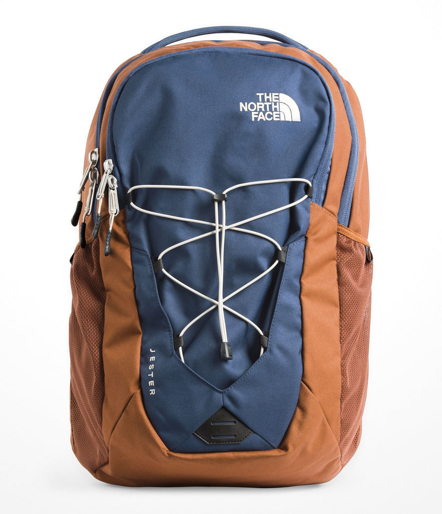 The North Face Jester Backpack, Shady Blue & Gingerbread Brown - backpacks4less.com