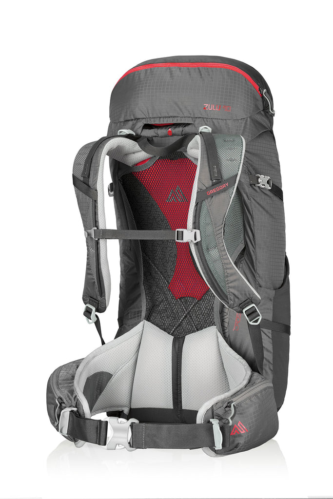 Gregory Mountain Products Zulu 40 Liter Men's Backpack, Feldspar Grey, Medium - backpacks4less.com