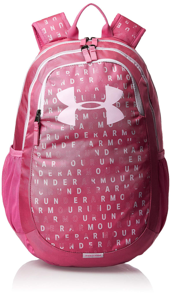 Under Armour Scrimmage Backpack 2.0, Pace Pink (669)/Pink Fog, One Size Fits All - backpacks4less.com