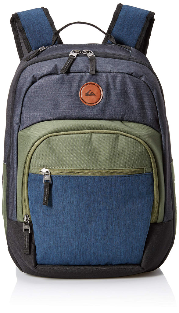 Quiksilver Men's SCHOOLIE Cooler II Backpack, medium grey heather 1SZ - backpacks4less.com